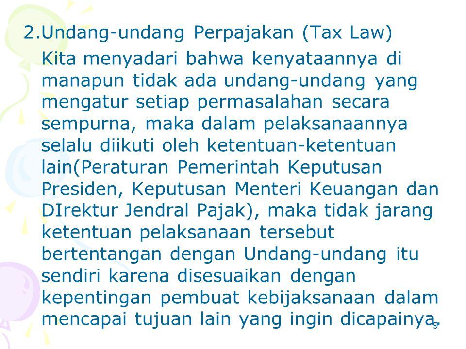Motivasi dilakukannya Perencanaan Pajak Ada 3 unsur perpajakan yang memotivasi dilakukannya perencanaan pajak: 1.Kebijaksanaan Perpajakan (Tax Policy)