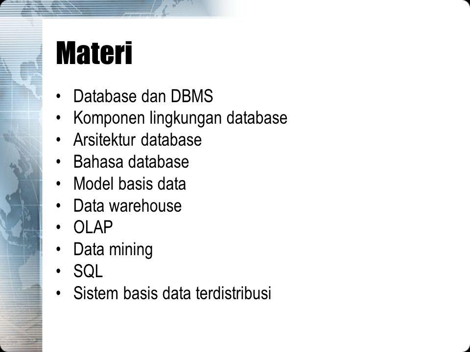 Orang-orang di belakang layar –DBMS Designers and Implementers Orang-orang yang merancang dan mengimplementasikan modul-modul DBMS dan interfacenya sebagai satu paket software.