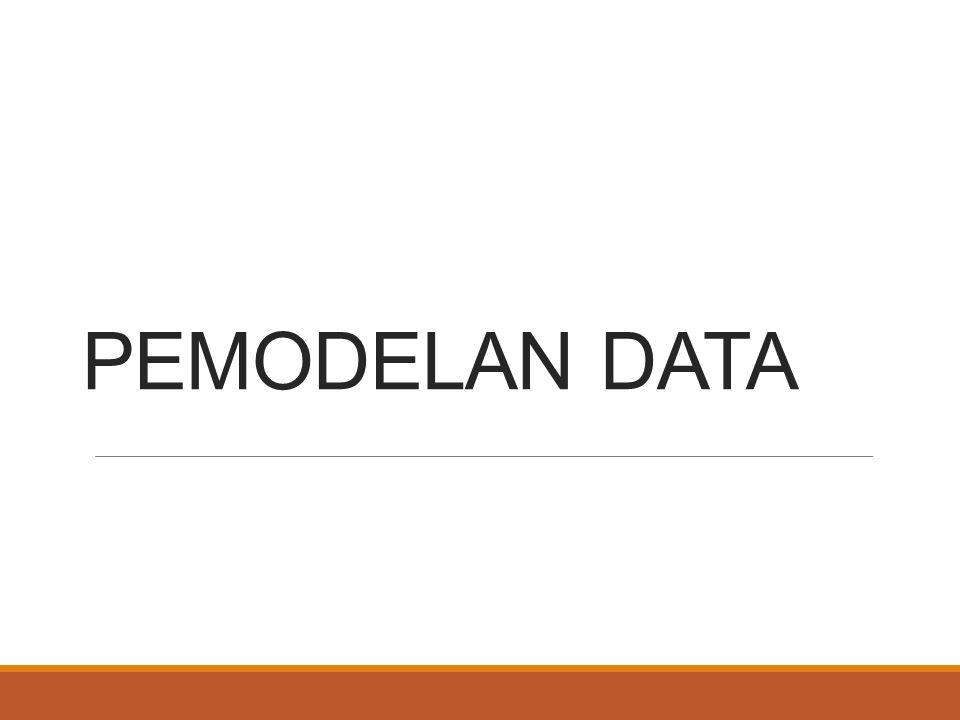 MODEL DATA BERFOKUS PADA DATA APA YANG DIPERLUKAN DAN BAGAIMANA DATA TERSEBUT HARUS DIORGANISASIKAN.