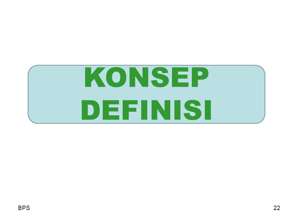 BPS22 KONSEP DEFINISI