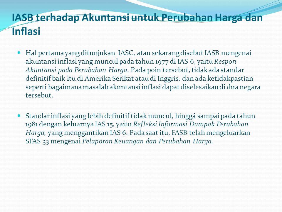 IASB terhadap Akuntansi untuk Perubahan Harga dan Inflasi.
