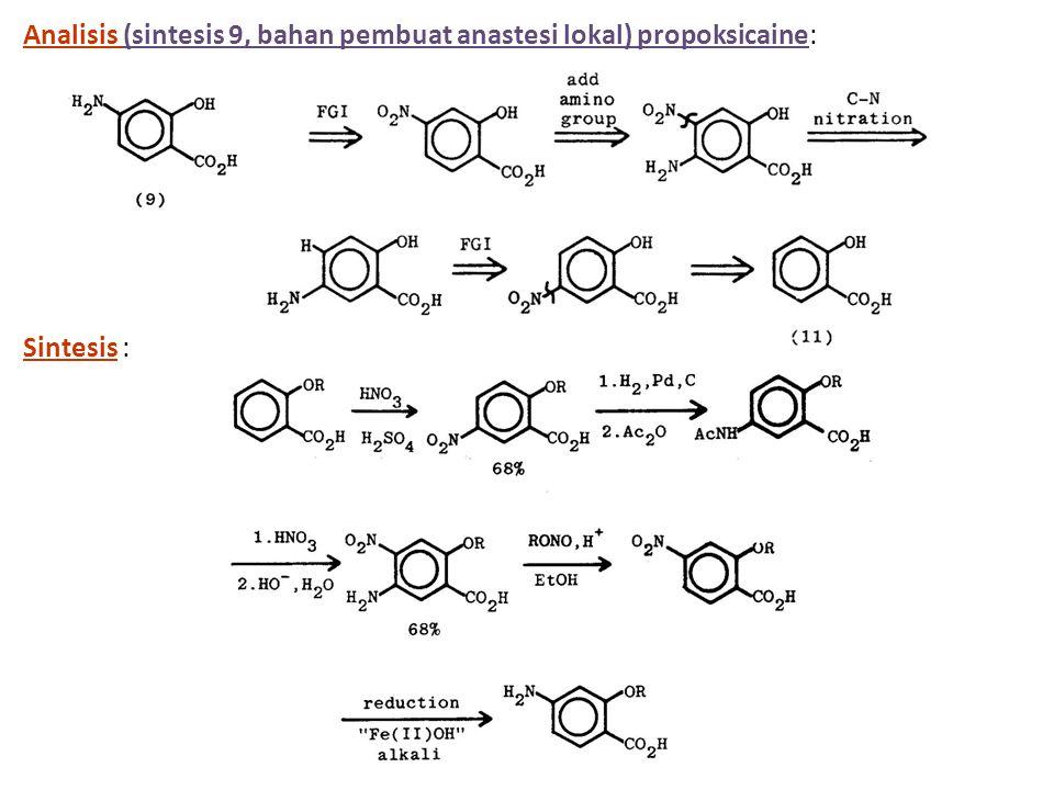 Analisis (sintesis 9, bahan pembuat anastesi lokal) propoksicaine: Sintesis :