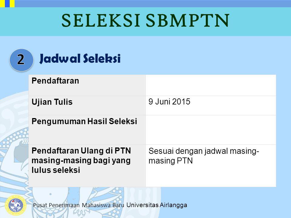 Pusat Penerimaan Mahasiswa Baru Universitas Airlangga Pendaftaran Ujian Tulis9 Juni 2015 Pengumuman Hasil Seleksi Pendaftaran Ulang di PTN masing-masi