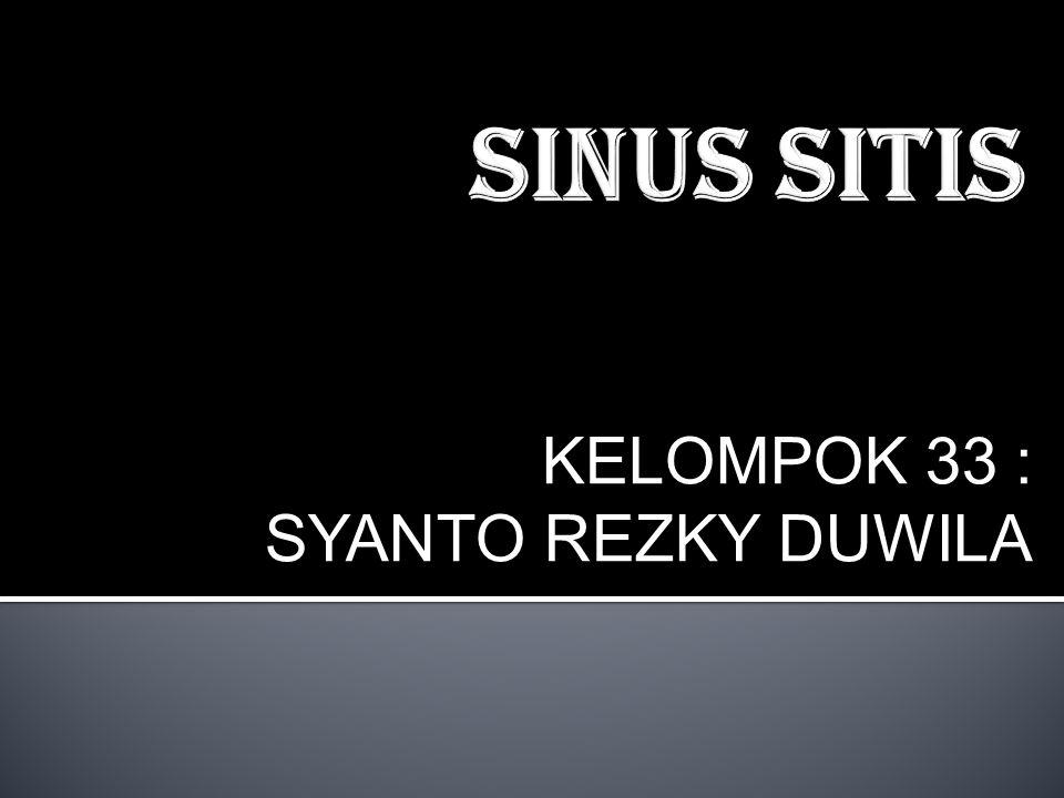 Sinusitis akhiran umum dalam kedokteran itis berarti peradangan, karena itu sinusitis adalah suatu peradangan sinus parasal.