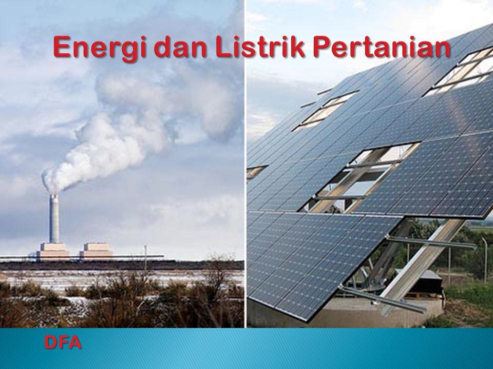 1.Pendahuluan 2.Energi Fosil, Energi Alternatif dan Terbarukan 1 Surya 3.Energi Alternatif dan Terbarukan 2 Angin, Air, Mikrohidro 4.Energi Alternatif dan Terbarukan 3 Laut, Biomassa, Geothermal, Nuklir dll 5.Review Teori Dasar Listrik 6.Sistem Pembangkitan Energi Listrik 7.Sistem Distribusi/Transmisi Energi Listrik