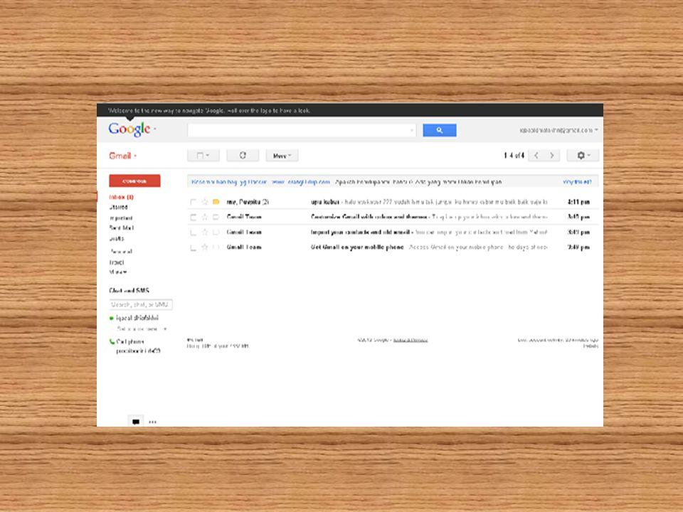 b. Membaca dan membalas E-mail Untuk membaca dan menjawab hingga meneruskan email ke berbagai teman-teman kita.Membaca menjawab dan emneruskan email t