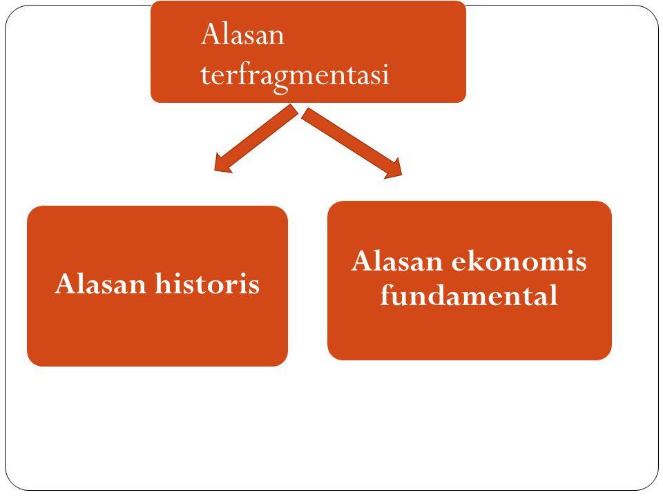 Alasan historis Alasan ekonomis fundamental Alasan terfragmentasi
