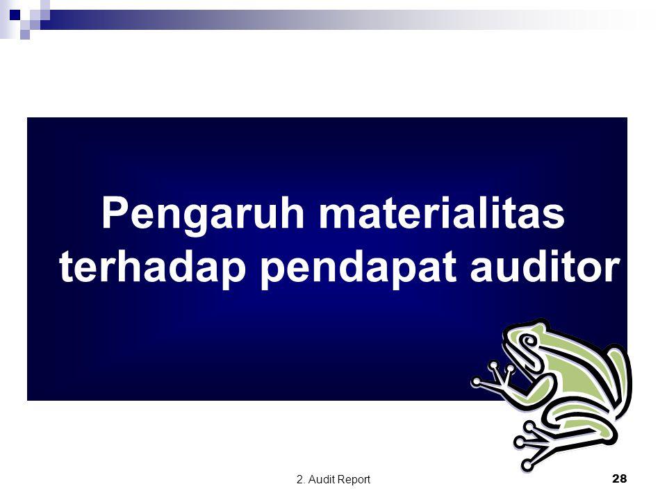 2. Audit Report28 Pengaruh materialitas terhadap pendapat auditor