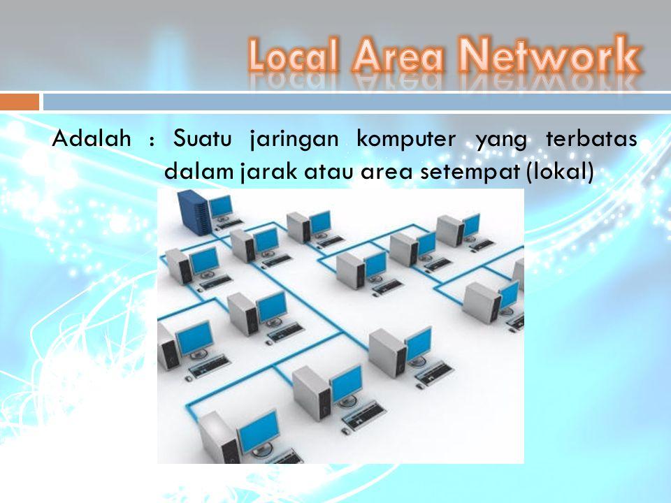 Adalah jaringan pribadi dalam sebuah gedung atau kampus yg ukurannya sampai ± 1 km.