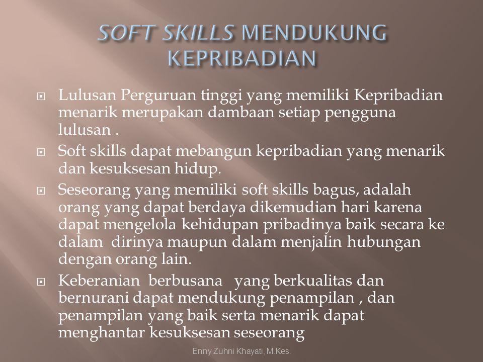  Lulusan Perguruan tinggi yang memiliki Kepribadian menarik merupakan dambaan setiap pengguna lulusan.  Soft skills dapat mebangun kepribadian yang