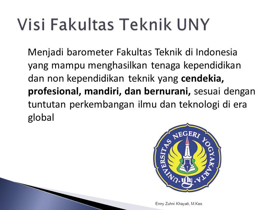 Menjadi barometer Fakultas Teknik di Indonesia yang mampu menghasilkan tenaga kependidikan dan non kependidikan teknik yang cendekia, profesional, man