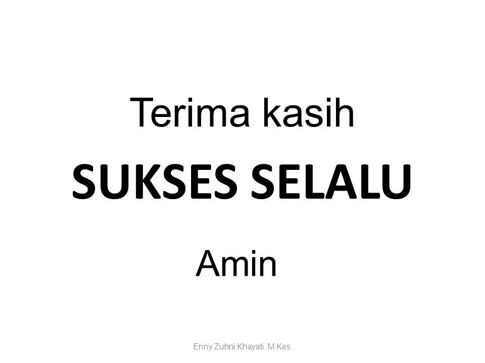 Terima kasih SUKSES SELALU Amin Enny Zuhni Khayati, M.Kes.