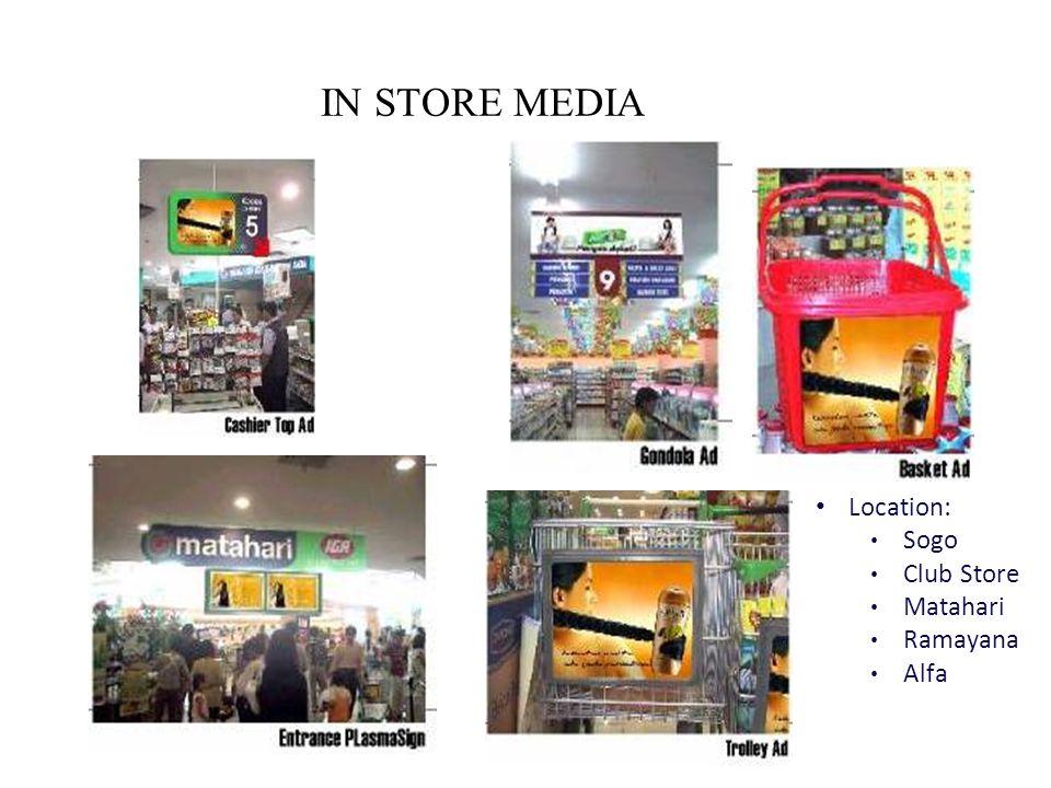 Location: Sogo Club Store Matahari Ramayana Alfa