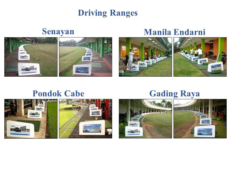 Senayan Manila Endarni Pondok CabeGading Raya Driving Ranges