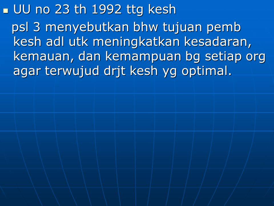VISI INDONESIA SEHAT 2010 VISI INDONESIA SEHAT 2010 Visi y/ gambaran, prediksi, at/ harapan ttg keadaan masy Indonesia pd ms yad, y/ INDONESIA SEHAT 2010.