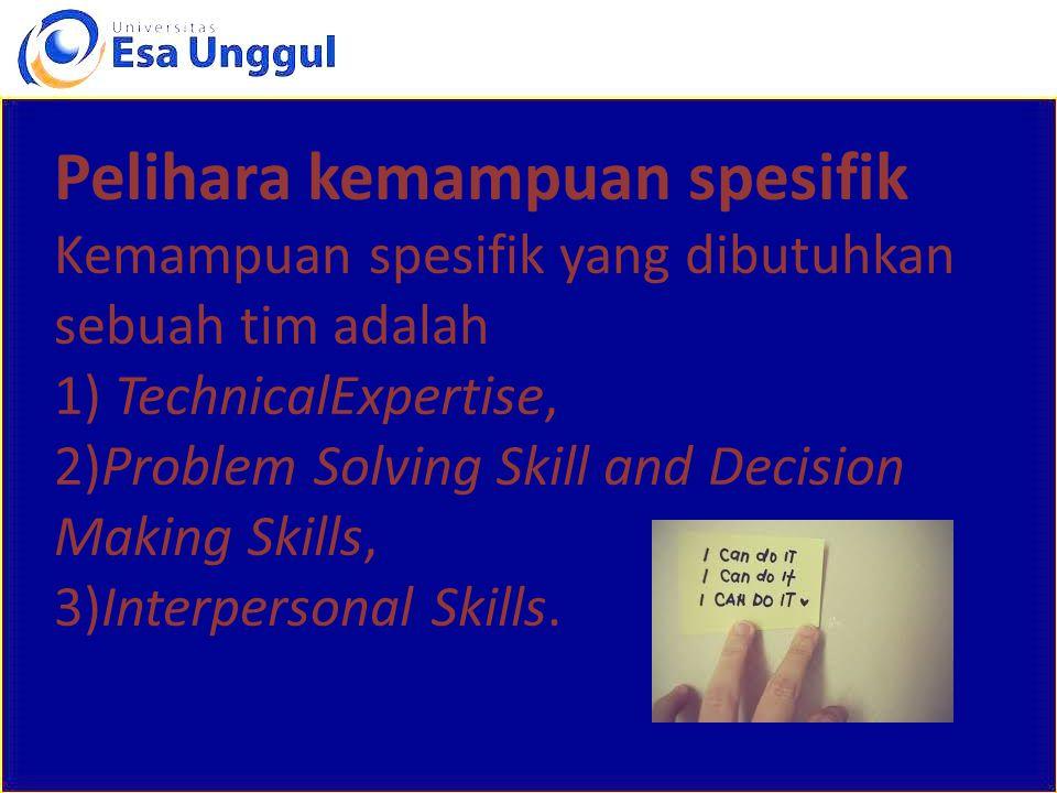 pelatihan terus meneruKembangkan Kembangkan pelatihan yang terus menerus, disertai penyediaan sumber daya yang cukup, agar tugas dan tanggung jawab mampu dilaksanakan dengan baik.