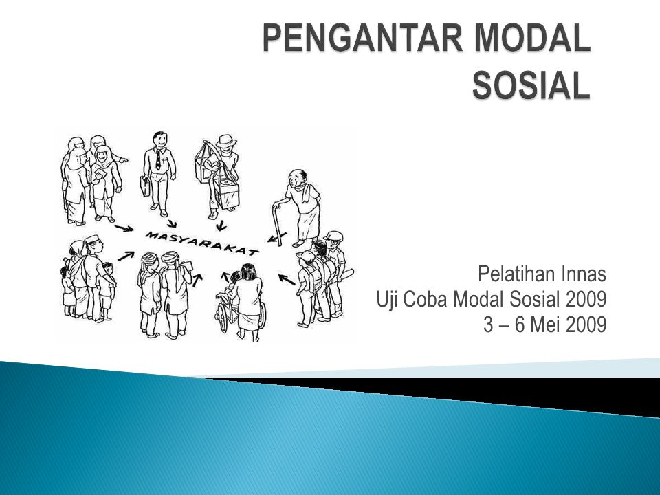 Pelatihan Innas Uji Coba Modal Sosial 2009 3 – 6 Mei 2009