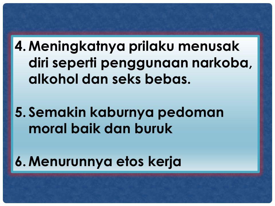 7.Semakin rendahnya rasa hormat kepada orang tua dan guru dan dosen.