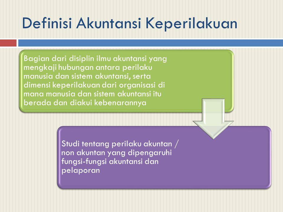 Kontribusi BerbagaiDisiplin Ilmu terhadap Akuntansi Keperilakuan PsikologiSosiologi Psikologi Sosial Antropologi Ilmu Politik
