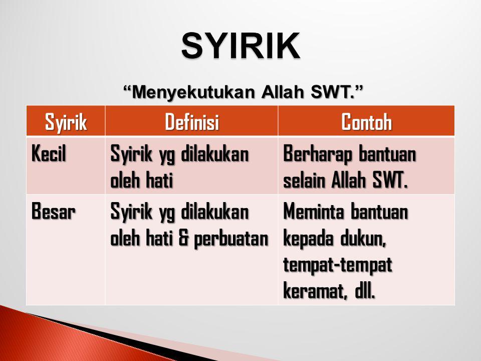 Roja yang disertai dengan perendahan diri dan ketundukan tidak boleh ditujukan kecuali kepada Allah azza wa jalla.