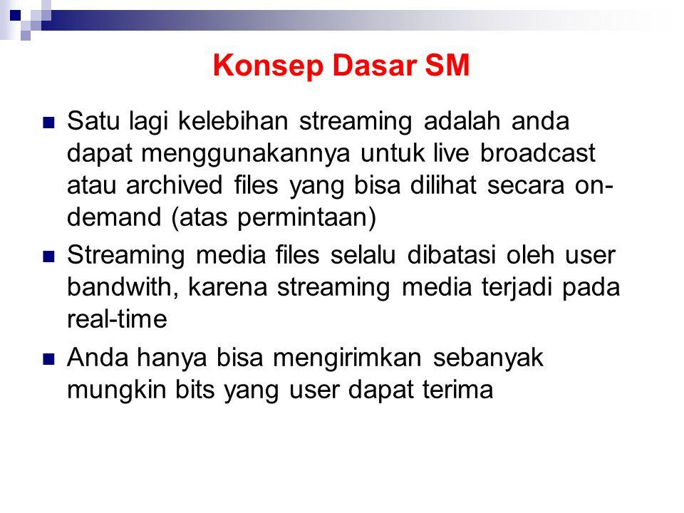 Sebelum file dapat dilihat / didengar pada streaming media, raw audio / video harus dikonversi ke format yang dapat di stream-kan melalui Internet Dilakukan dengan streaming media encoder, prosesnya bernama encoding Encoding juga melibatkan proses mengurangi jumlah data (mengurangi jumlah file) Agar ringan untuk di stream melalui Internet
