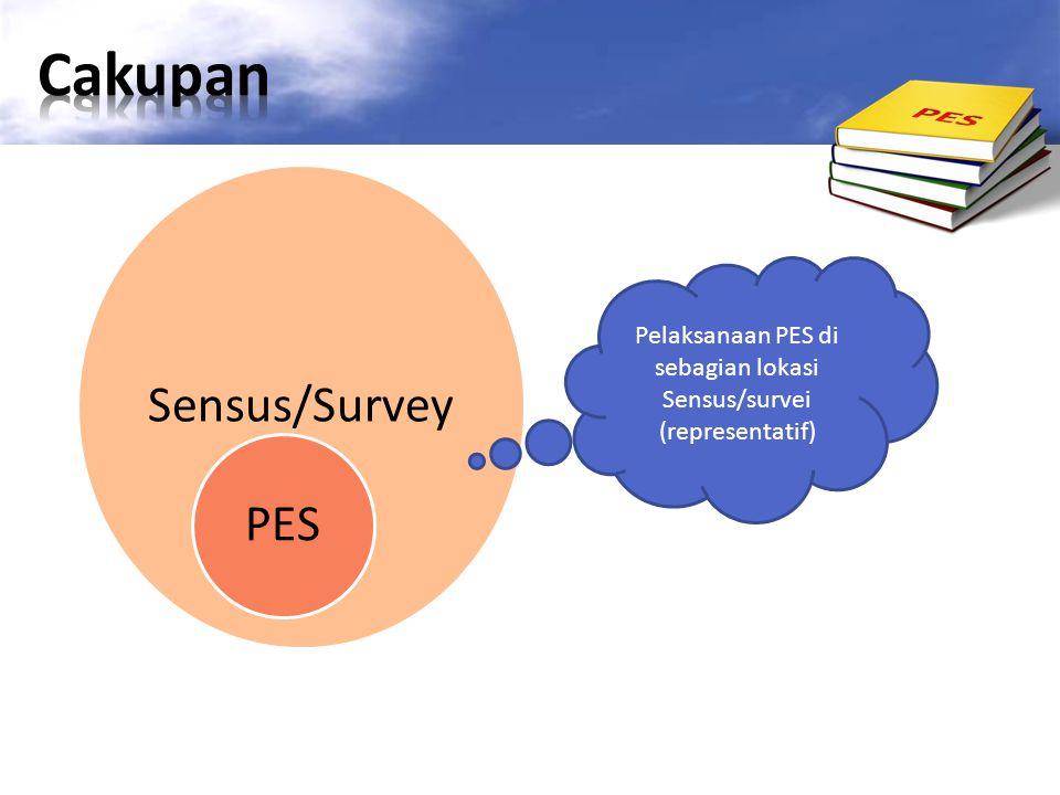 Sensus/Survey PES Pelaksanaan PES di sebagian lokasi Sensus/survei (representatif)