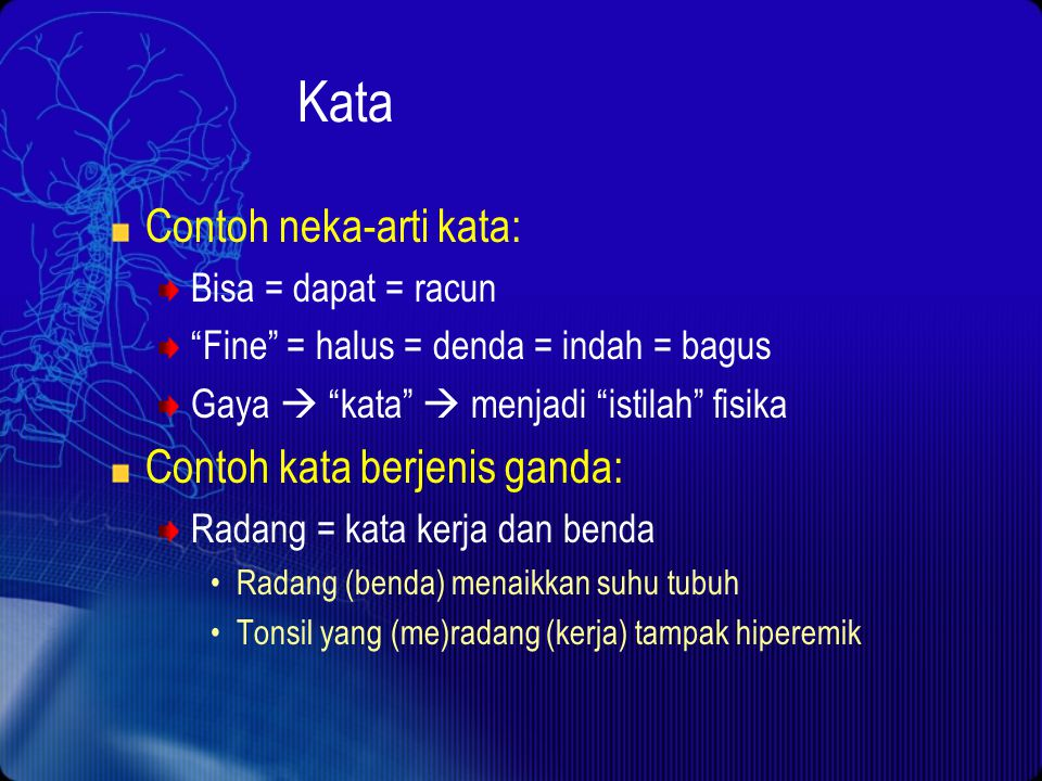 Kata Definisi: word ( wûrd) n. Abbr. wd. 1. A sound or a combination of sounds, or its representation in writing or printing, that symbolizes and comm