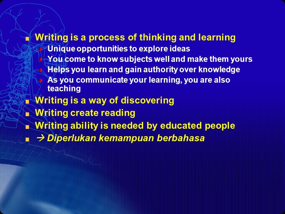 Agenda Pendahuluan Elemen tulisan Manfaat tulisan Tulisan akademik Tulisan informatif Tulisan persuasif Bahasa dalam makalah ilmiah Kata Istilah Frasa