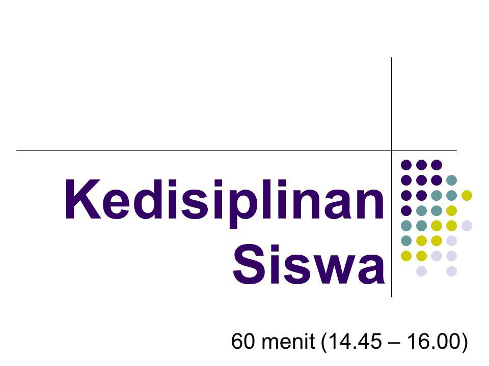 Kedisiplinan Siswa 60 menit (14.45 – 16.00)