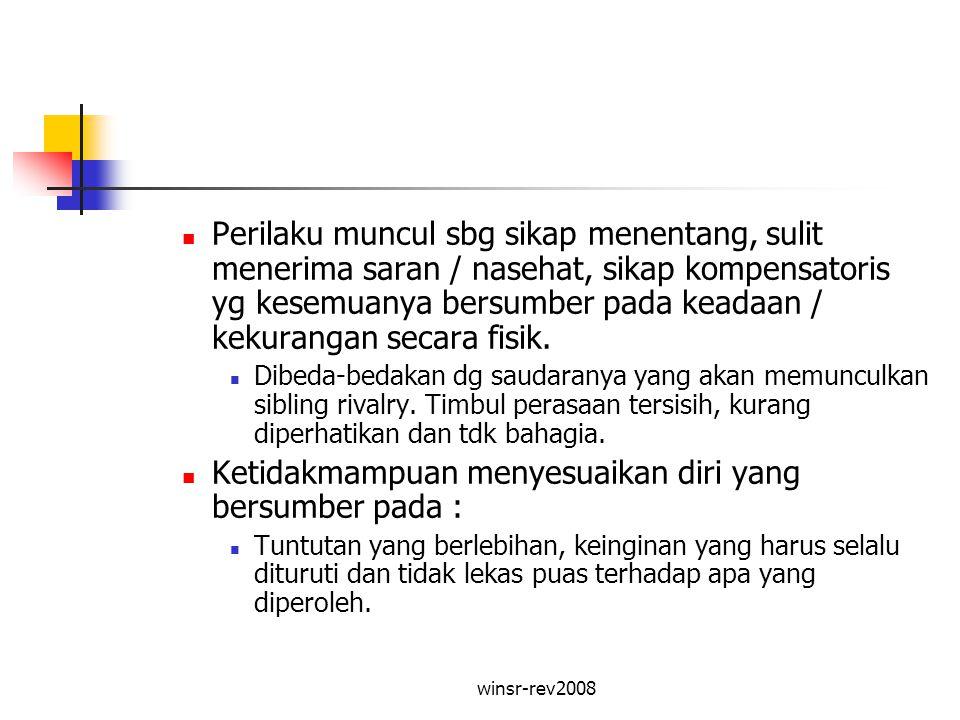 winsr-rev2008 Faktor Keluarga Lingkungan keluarga adalah lingkungan pendidikan informal yang mempengaruhi berbagai aspek perkembangan anak.
