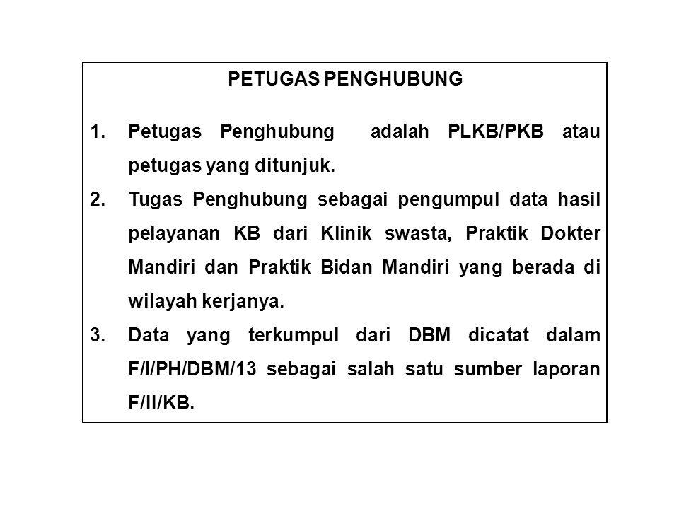 PETUGAS PENGHUBUNG 1.Petugas Penghubung adalah PLKB/PKB atau petugas yang ditunjuk.