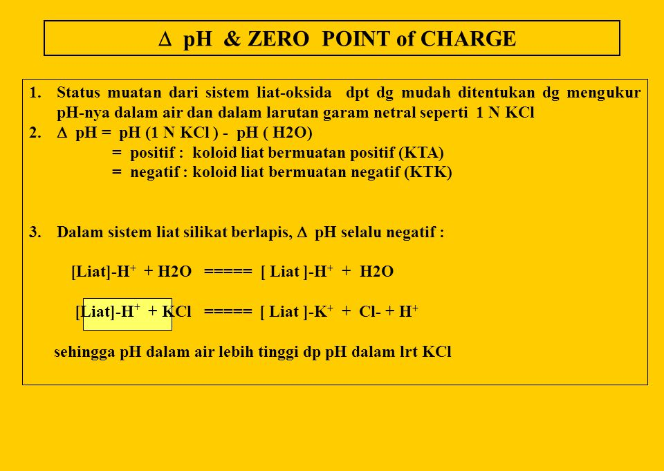 Net surface charge me/100g AndeptHumult Udalf Orthox -0+-0+ -0+-0+ -0+-0+ -0+-0+ pH dlm 0.01 N NaCl Hor A Hor B pH(H2O) = 6 pH(H2O) = 6.8 Hor A Hor B