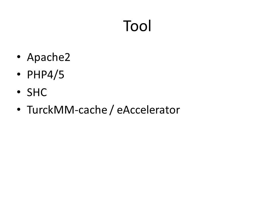 Tool Apache2 PHP4/5 SHC TurckMM-cache / eAccelerator