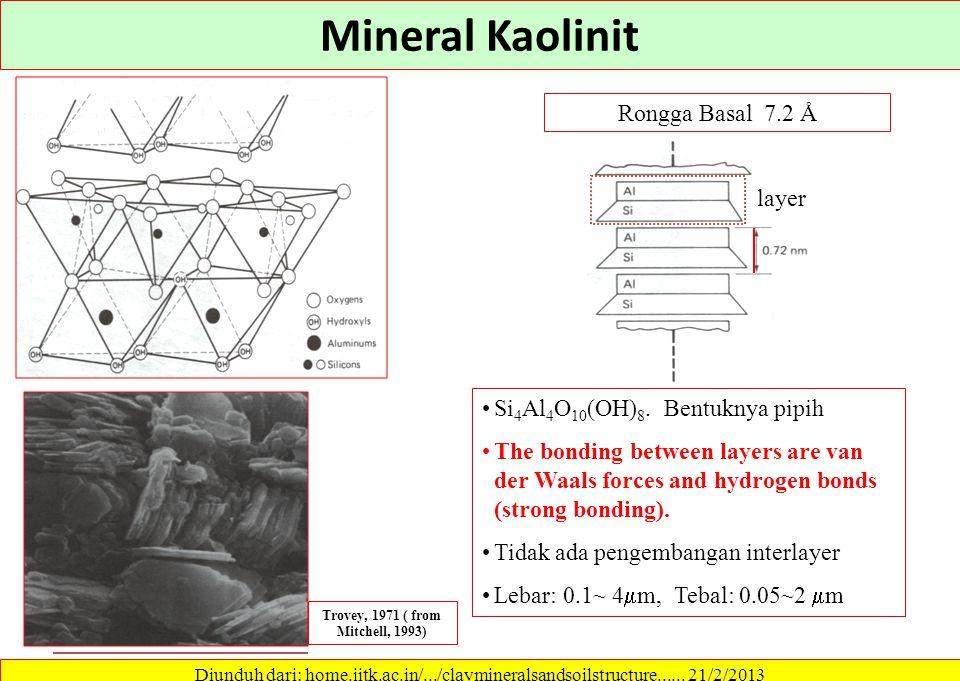 Noncrystalline clay - allophane Mitchell, 1993 Diunduh dari: home.iitk.ac.in/.../claymineralsandsoilstructure...... 21/2/2013 Sintesis