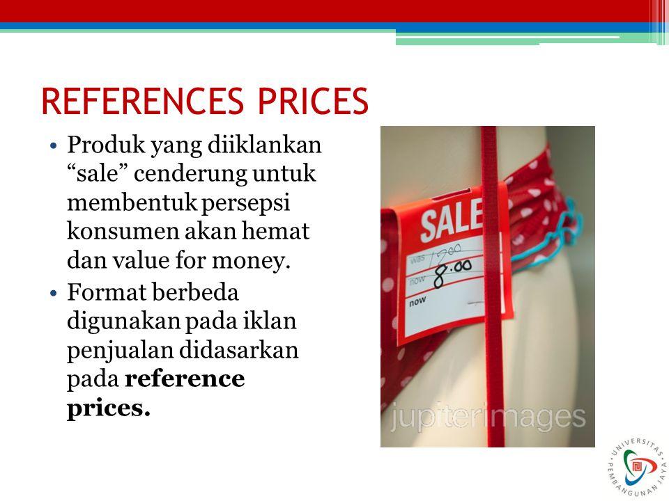 """Produk yang diiklankan """"sale"""" cenderung untuk membentuk persepsi konsumen akan hemat dan value for money. Format berbeda digunakan pada iklan penjuala"""