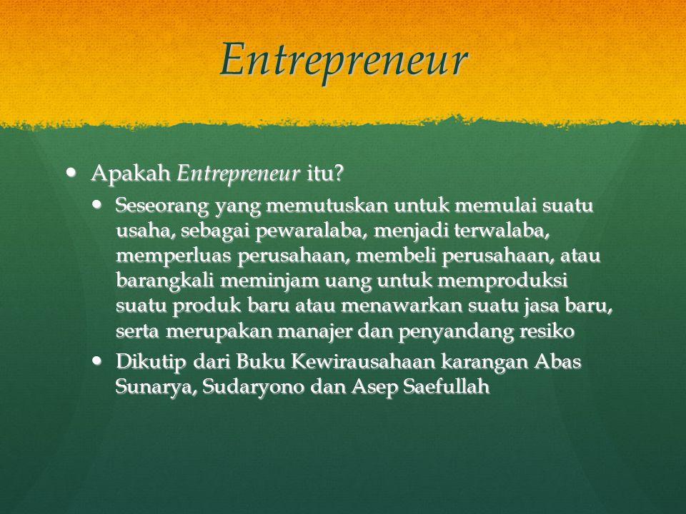 Entrepreneur Apakah Entrepreneur itu. Apakah Entrepreneur itu.