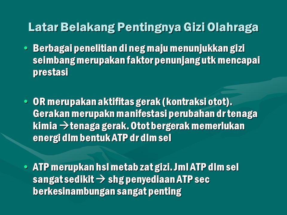 ATP (adenosine tri phosphate) adenosinPPP Ikatan tinggi energi adenosinPPP energi energi Kontraksi otot