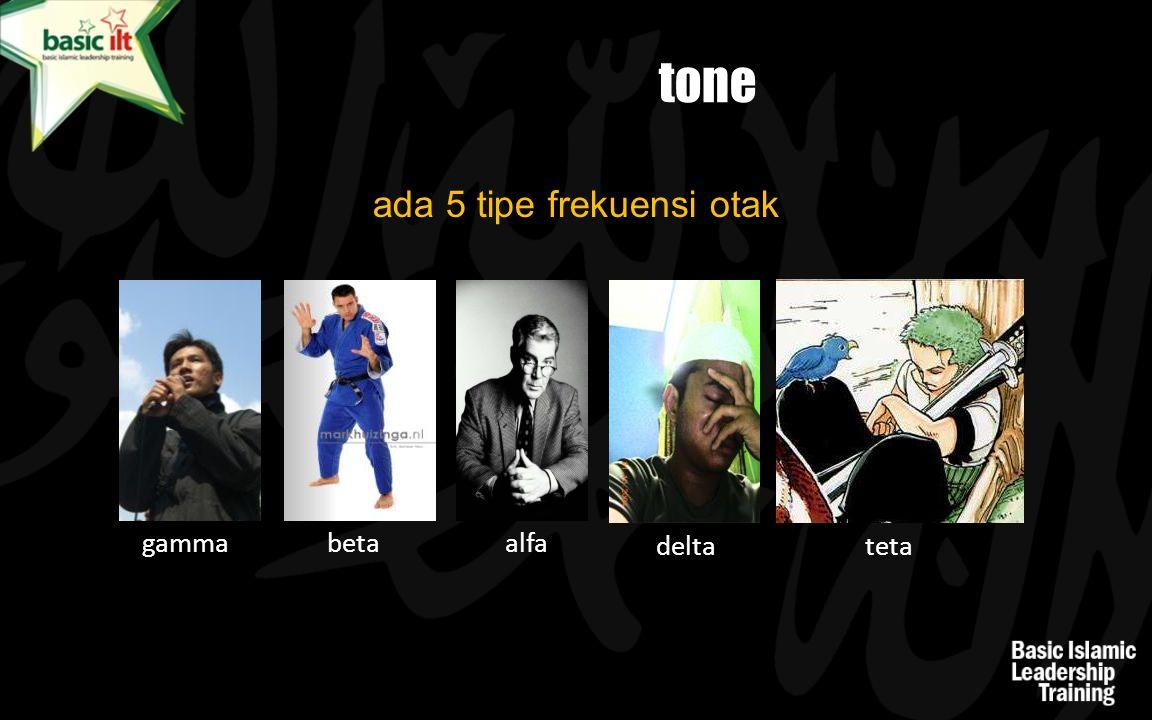 tone ada 5 tipe frekuensi otak gammabeta alfa delta teta
