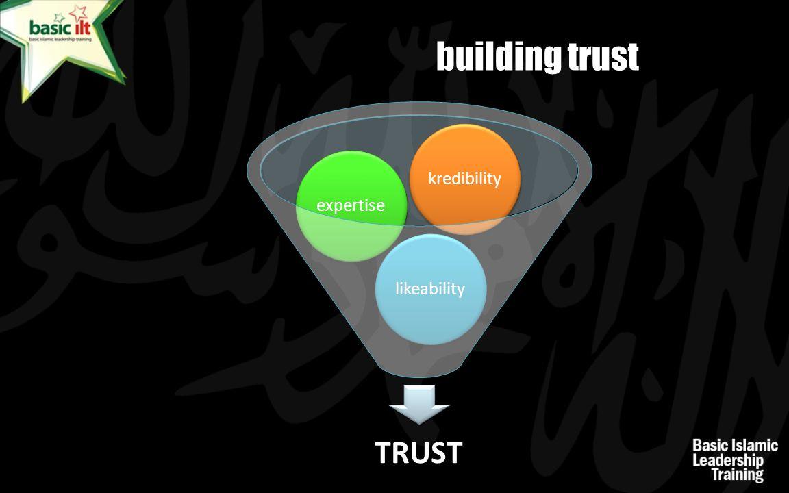 building trust TRUST likeabilityexpertisekredibility