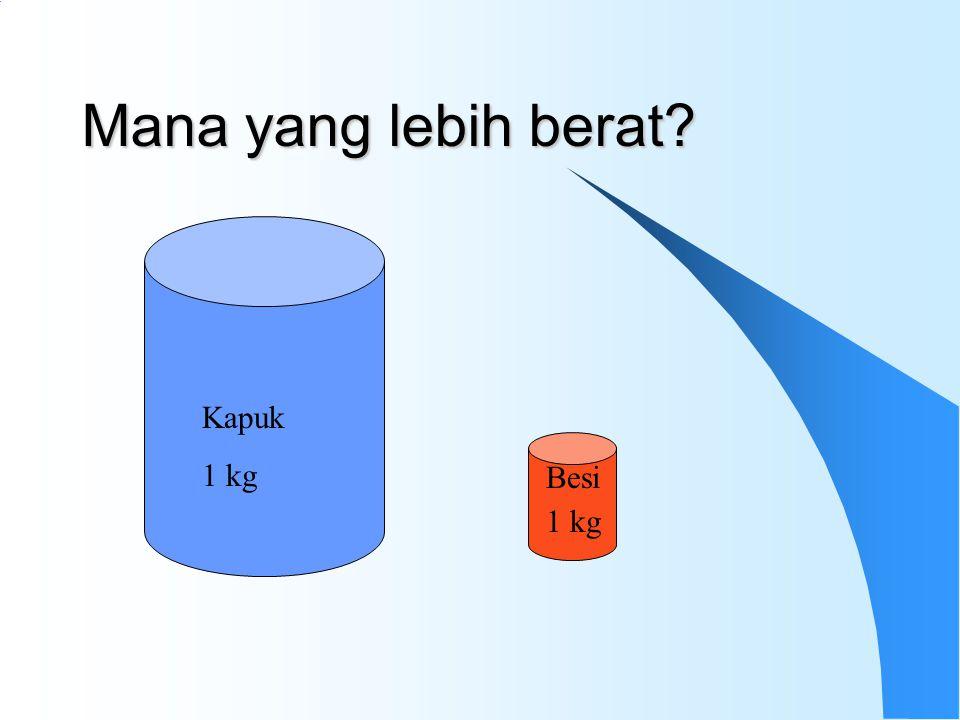 Mana yang lebih berat? Kapuk 1 kg Besi 1 kg