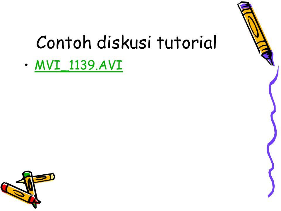 Contoh diskusi tutorial MVI_1139.AVI