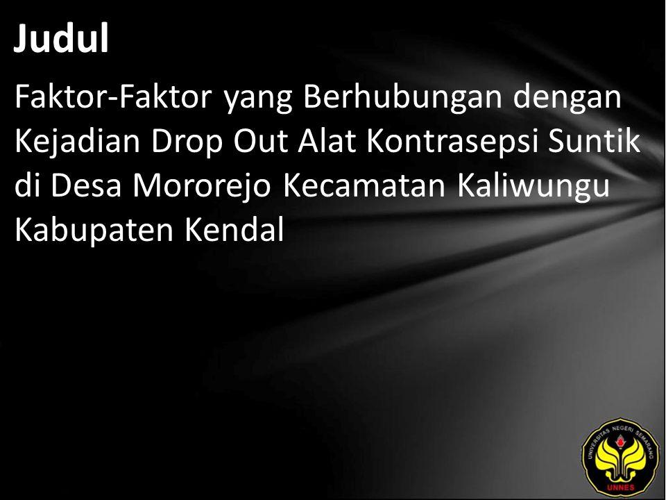 Abstrak Jumlah penduduk yang besar dan laju pertumbuhannya yang tinggi merupakan masalah yang dihadapi Indonesia saat ini, oleh karena itu program KB harus digalakkan kembali agar tidak terjadi ledakan jumlah penduduk.