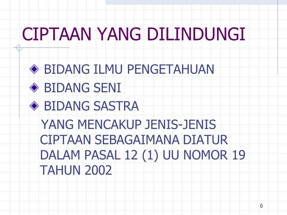 27 Direktorat Jenderal Hak Kekayaan Intelektual Departemen Hukum & HAM RI Jl Daan Mogot Km.24, Tangerang – Banten, Website: www.dgip.go.id TERIMA KASIH
