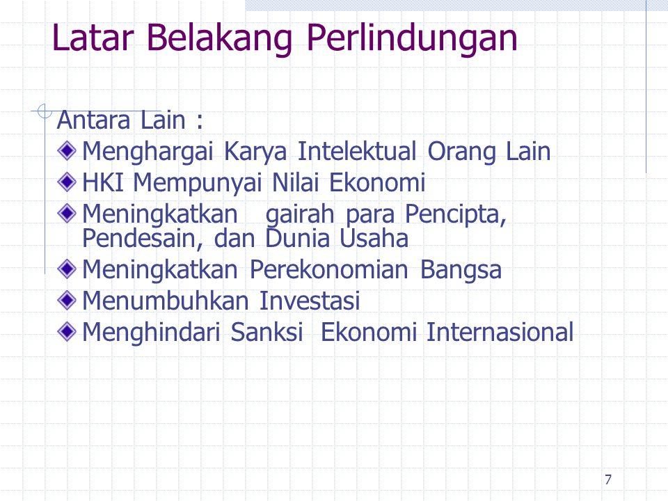 8 Kendala Penegakan Hukum HKI di Indonesia (Kondisi Dilematis ) Dimensi Budaya Timur-Barat (Keseimbangan antara kepemilikan individu dan masyarakat) Dimensi Sosial ( Penegakan hukum banyak menimbulkan permasalahan sosial) Dimensi Ekonomi(Dilema antara mahalnya barang asli dan daya beli masyarakat) Perbedaan Persepsi/pemahaman bagi para penegak hukum Terbatasnya anggaran, sarana & prasarana, aparat penegak hukum, kesadaran masyarakat )
