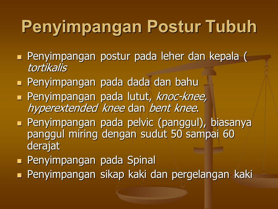 Penyimpangan Postur Tubuh Penyimpangan postur pada leher dan kepala ( tortikalis Penyimpangan postur pada leher dan kepala ( tortikalis Penyimpangan p