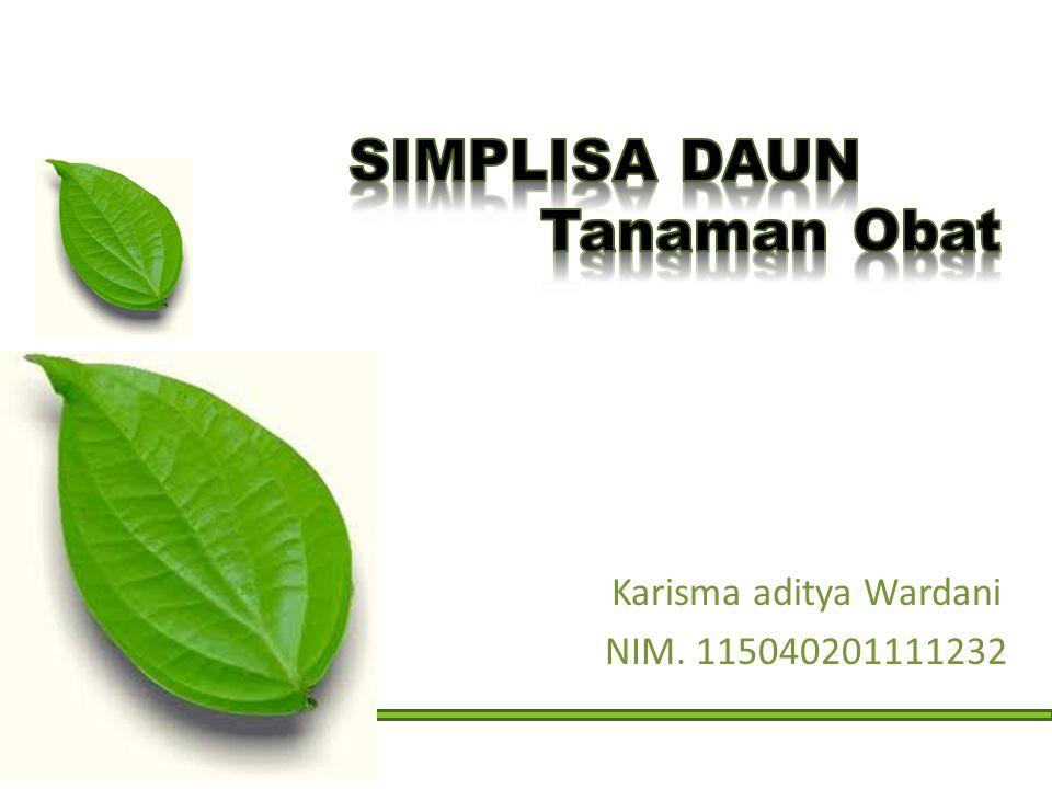 Karisma aditya Wardani NIM. 115040201111232