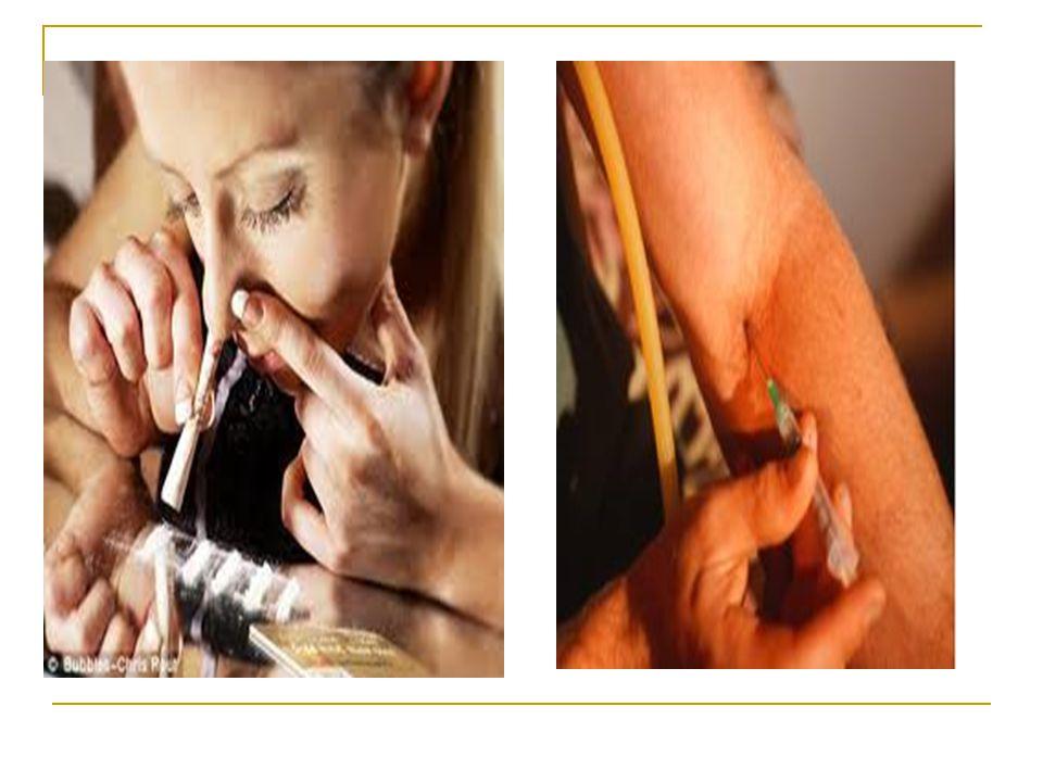 Cara Narkoba digunakan Dimakan, dihisap, dihirup melalui hidung, disuntikan, dll