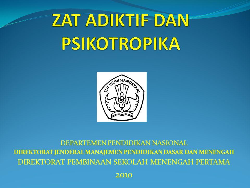 DEPARTEMEN PENDIDIKAN NASIONAL DIREKTORAT JENDERAL MANAJEMEN PENDIDIKAN DASAR DAN MENENGAH DIREKTORAT PEMBINAAN SEKOLAH MENENGAH PERTAMA 2010