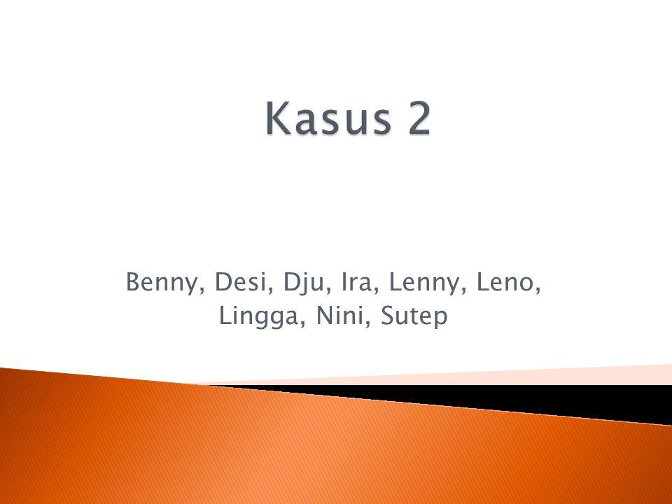 Benny, Desi, Dju, Ira, Lenny, Leno, Lingga, Nini, Sutep