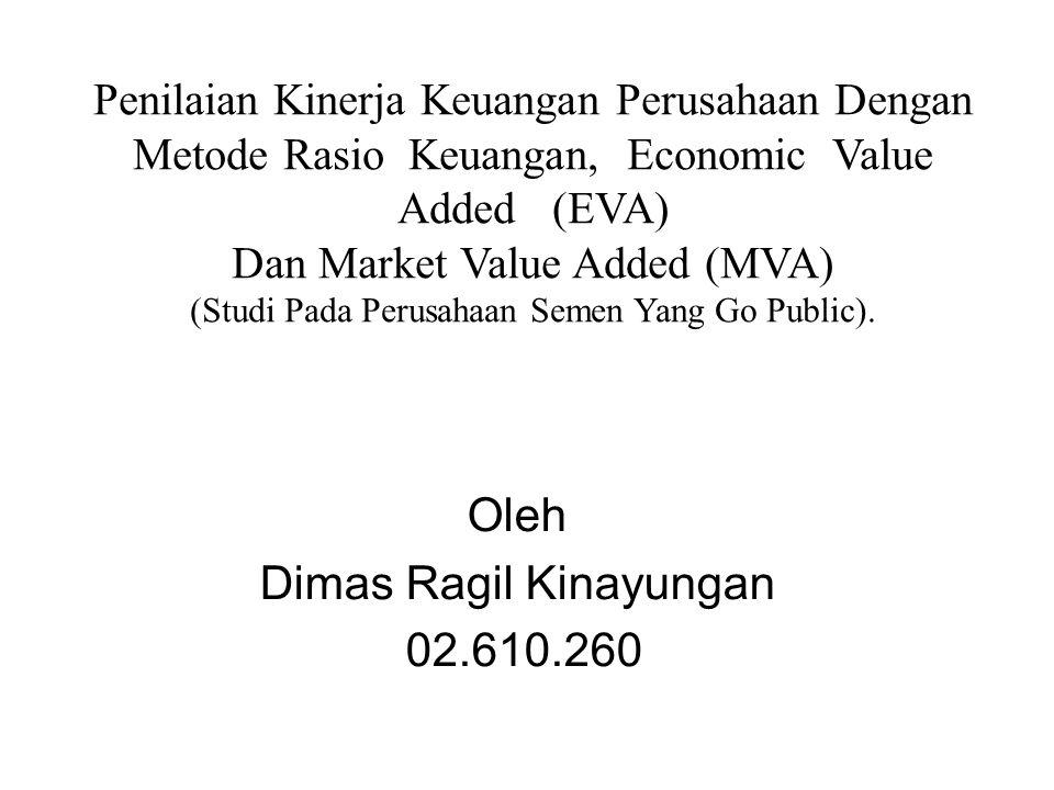 Latar Belakang Kondisi Perusahaan Semen Di Indonesia Alat Pengukur Kinerja Keuangan Metode Rasio Keuangan Metode Economic Value Added (EVA) Metode Market Value Added (MVA)
